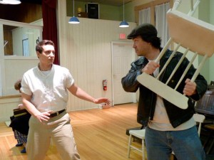 "Sean Plourde and Allen Adams in ""One Flew Over the Cuckoo's Nest,"" 2011. (Photo Credit: Julie Lisnet"