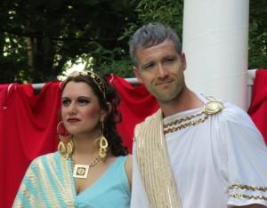 Calphurnia and Caesar look on